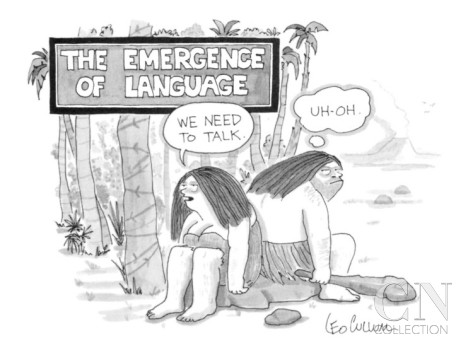 leo-cullum-the-emergence-of-language-cave-woman-we-need-to-talk-caveman-uh-oh-new-yorker-cartoon